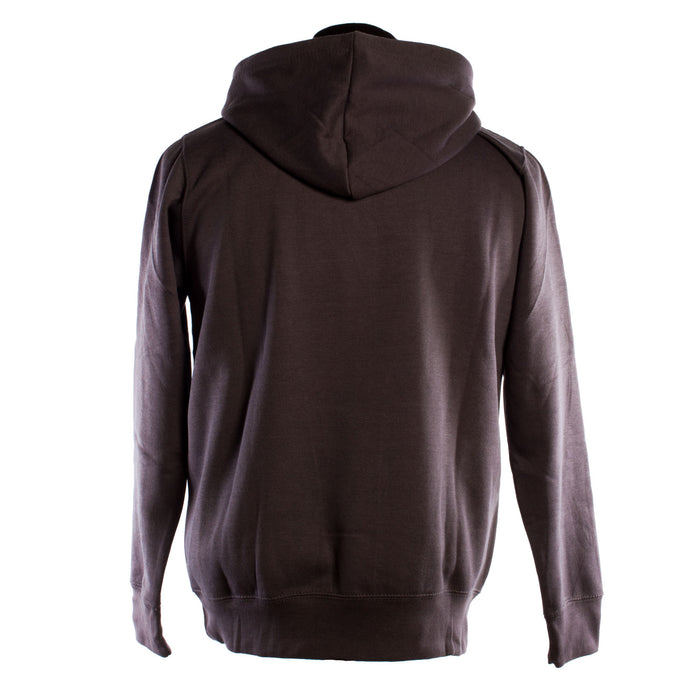 Edinburgh Harvard Print Hooded Top Charcoal