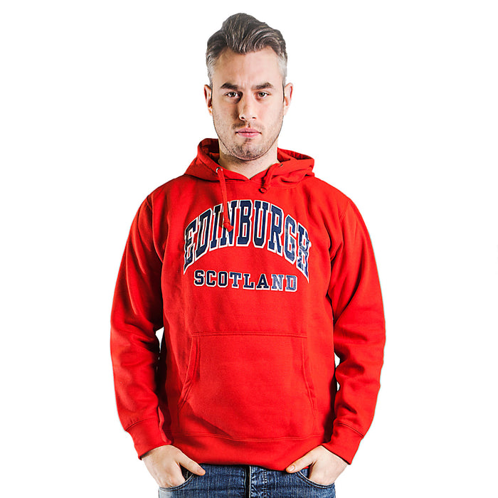 Heritage Of Scotland Men's Edinburgh Scotland Harvard Print Hooded Top