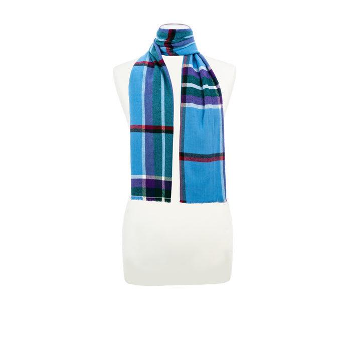 World Peace Tartan Brushed Cotton Scarf