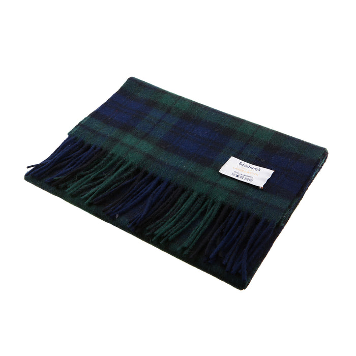 Edinburgh 100% Lambswool Scottish Tartan Multicolour Scarf Black Watch