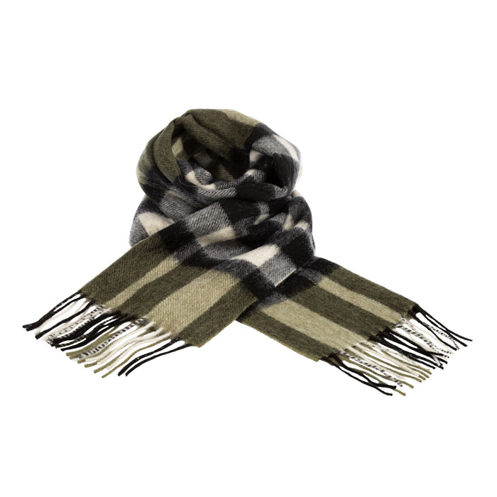 Edinburgh 100% Lambswool Scottish Tartan Multicolour Scarf Exploded Scotty Thomson Cypress