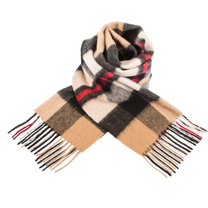 Edinburgh 100% Lambswool Scarf  Exploded Thomson Camel