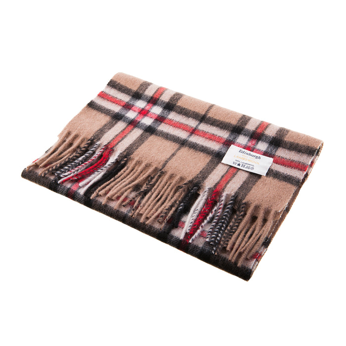 Edinburgh 100% Lambswool Scarf  Thomson Camel