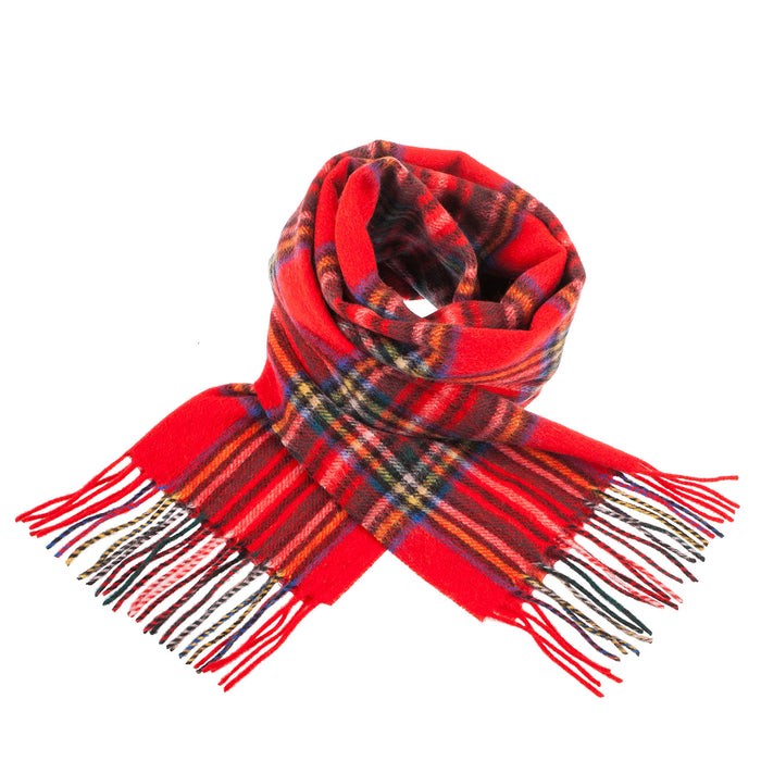 Edinburgh 100% Lambswool Scottish Tartan Multicolour Scarf Stewart Royal
