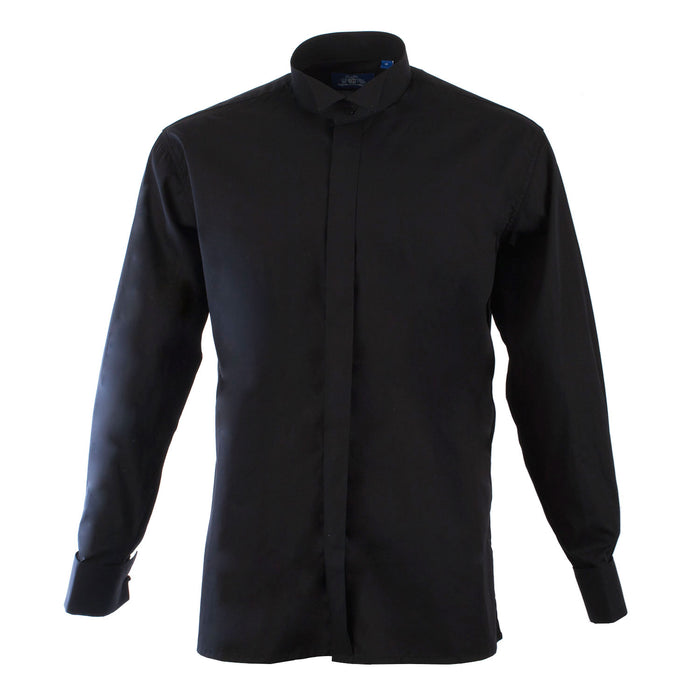 Wing Collar Shirt Black