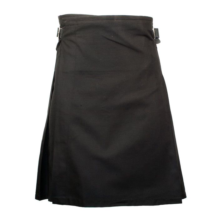 Gents Lightweight Party Kilt Black