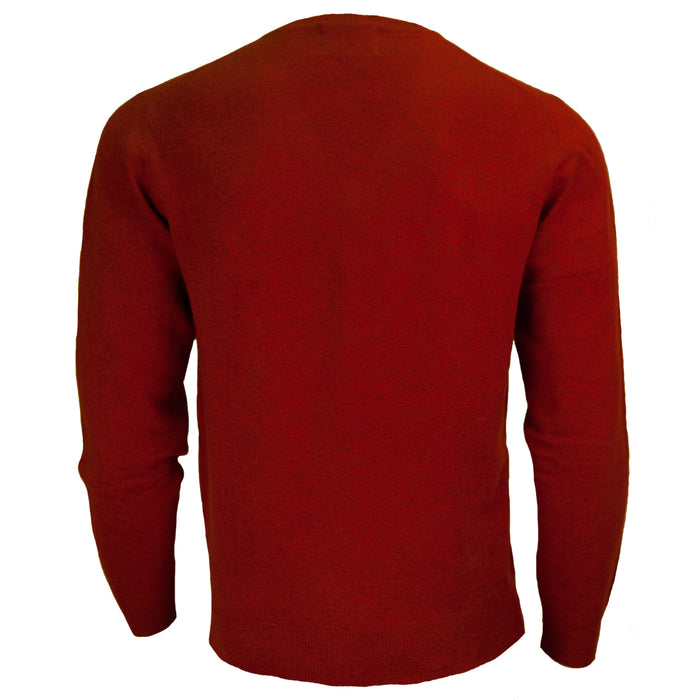 Men's Dunedin Cashmere 100% Cashmere Cr  Red Rust