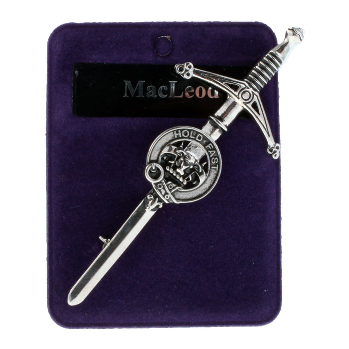 Clans Of Scotland Pewter Scots Clan Kilt Pin Macleod