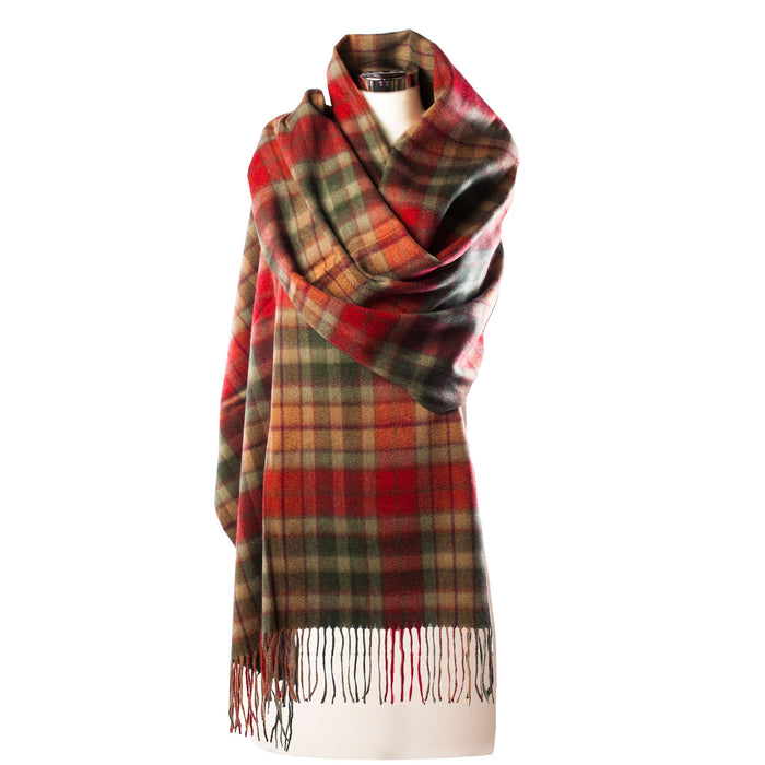 Edinburgh 100% Lambswool Wide Scottish Tartan Stole