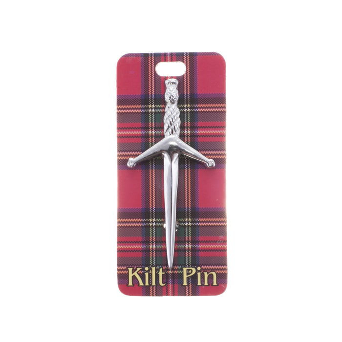 Broadsword Kilt Pin Silver