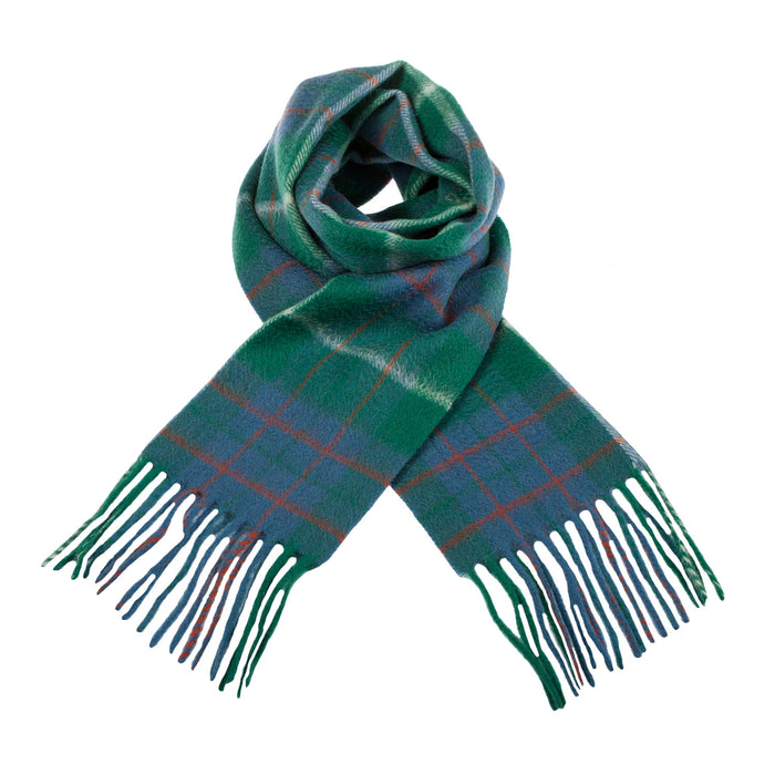 Clans Of Scotland Scottish Tartan Cashmere Scarf Macintyre Hunting Ancient