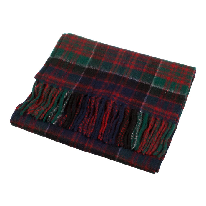 Cashmere Scottish Tartan Clan Scarf  Macdonald Of Clanranald