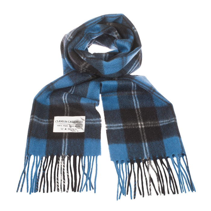 Clans Of Scotland Scottish Tartan Cashmere Scarf Ramsay Blue