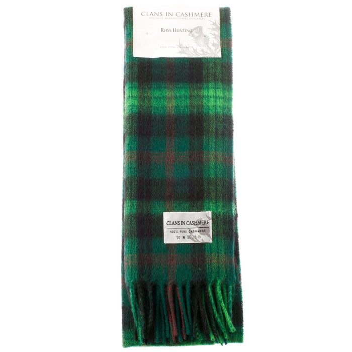 Cashmere Scottish Tartan Clan Scarf  Ross Hunting