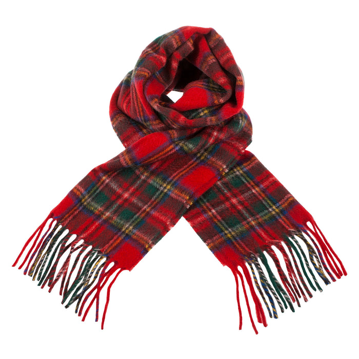 Cashmere Scottish Tartan Clan Scarf  Stewart Royal