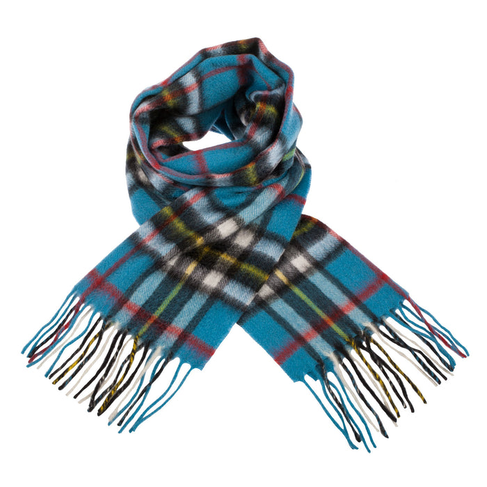 Clans Of Scotland Scottish Tartan Cashmere Scarf Thomson Blue
