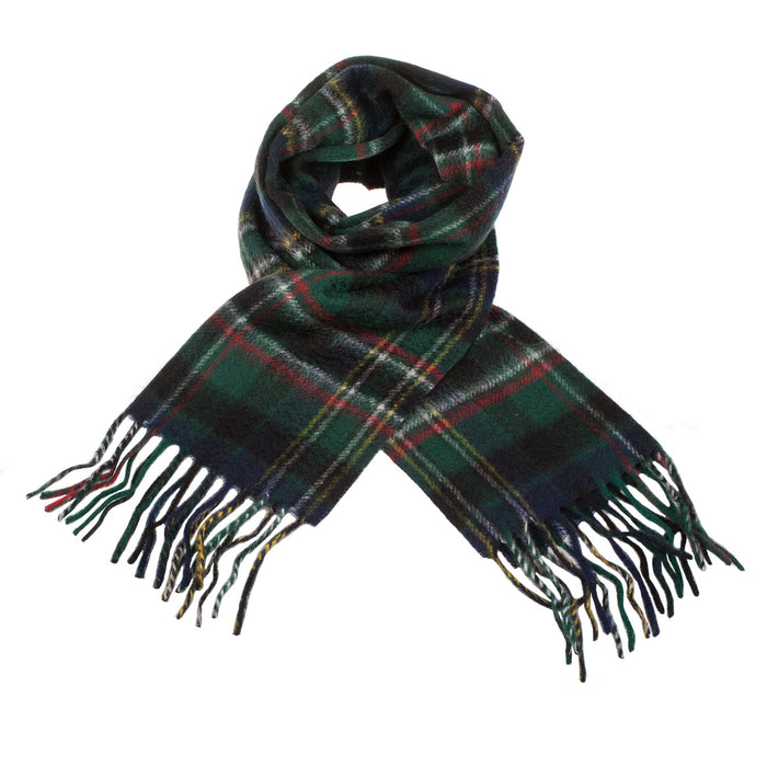 Clans Of Scotland Scottish Tartan Cashmere Scarf Scott Green