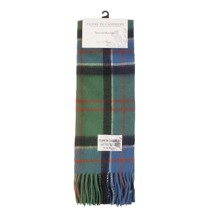 Clans Of Scotland Scottish Tartan Cashmere Scarf Sinclair Hunting