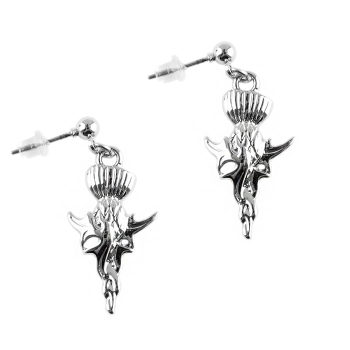 Long Thistle Drop Earrings