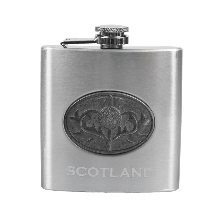 Thistle Emblem 6Oz Flask/1Oz Shot Glass
