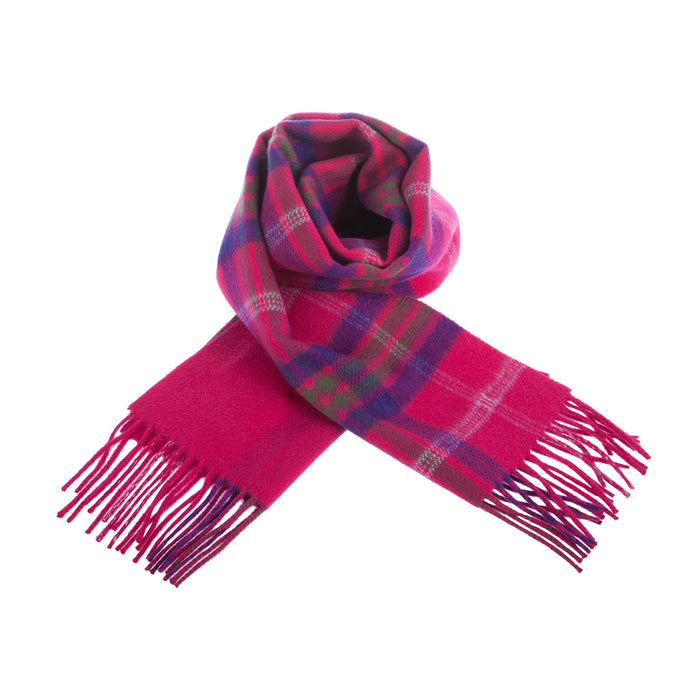 Cashmere Double Faced Scarf Taransay Pink/Pink