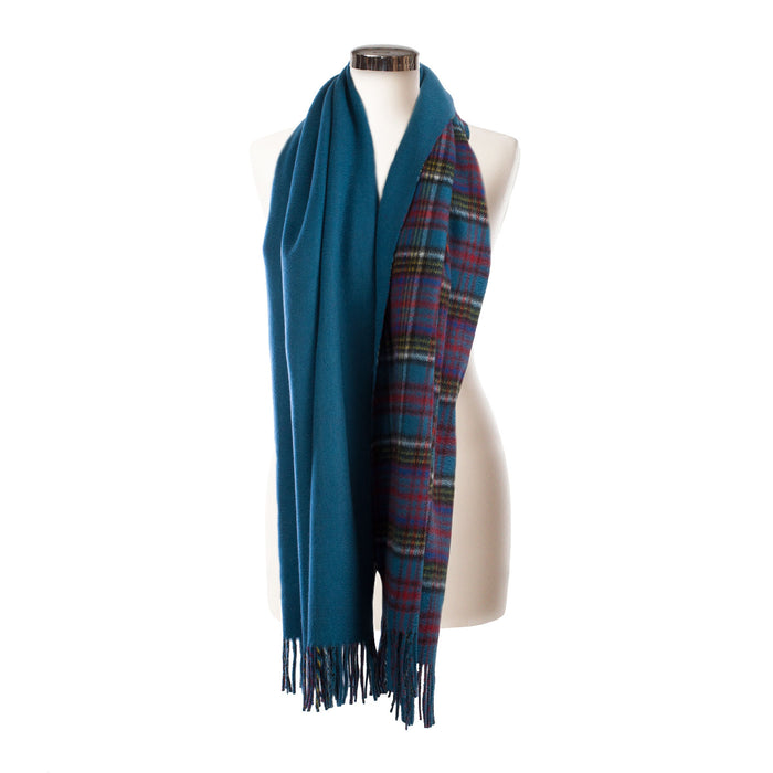 Dunedin Cashmere Double Sided Stole  Anderson/Blue