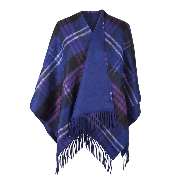Dunedin Cashmere Double Sided Bug Check  Heritage Of Scotland/Dark Blue