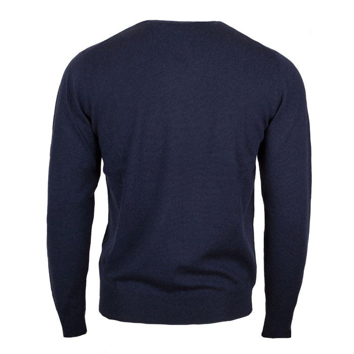Men's Merino Wool V Neck Jumper Cosmos