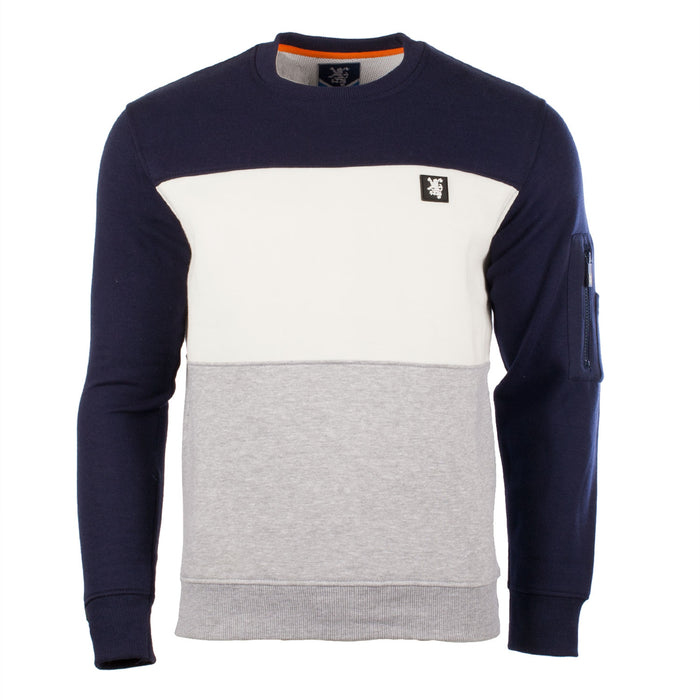 Gents Scotland Tyrone Sweater Navy/Off White/Heather Grey Marl