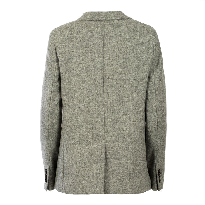 Shetland Wool Ladies Jacket - Isla Light Grey