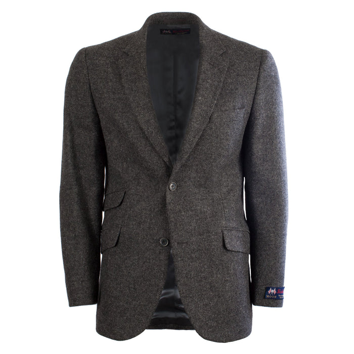 Gents Harris Shetland Wool Jacket Dark Grey