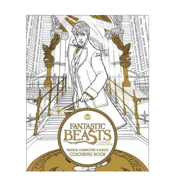 Fbeasts:Magical Characters Colouring Bk