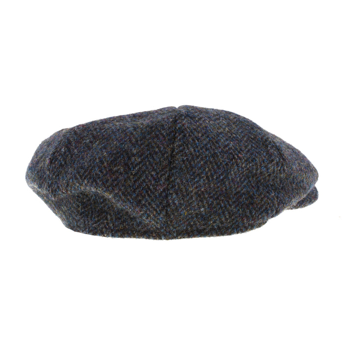 Men's Harris Tweed Carloway Cap  2012 Grey/Blue Herringbone