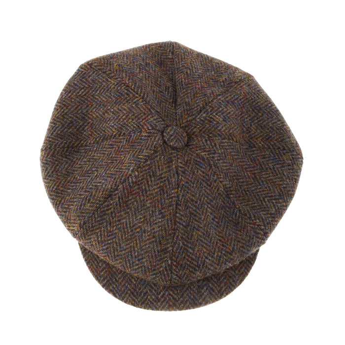 Men's Harris Tweed Carloway Cap  2013 Brown Check