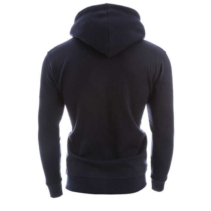 Edinburgh Zipped Hooded Sweatshirt Navy/Grey