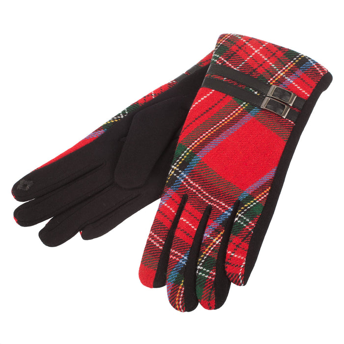 Heritage Of Scotland Women's Tartan Buckle Glove