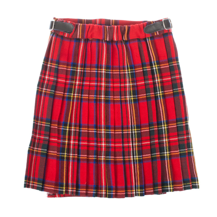 Glen Isla 100% Wool Girls Billie Kilt Mini Skirt Made In Scotland