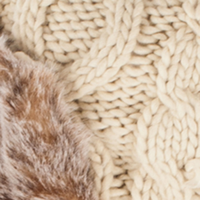 Aran Traditions Cable Knitted Trapper Ha