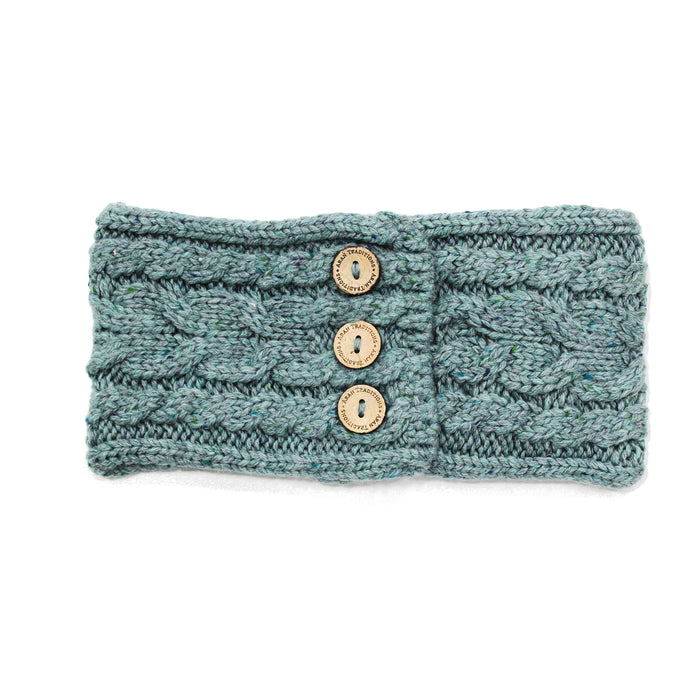 Aran Donegal Cable Button Headband