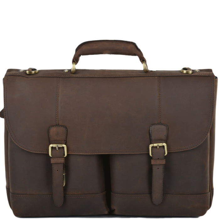 Henry Single Gusset Heavy Duty Briefcase Mud