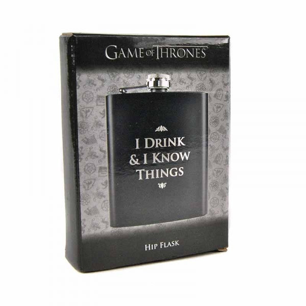 Hip Flask (7Oz) Boxed - Game Of Thrones