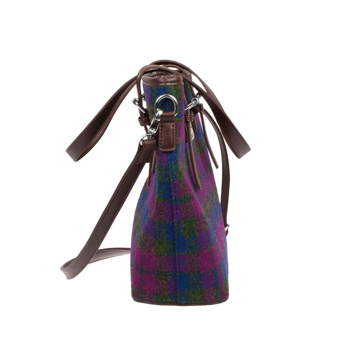 Harris Tweed Tartan Tote Bag - Spey Heather Check