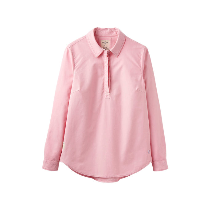 Women's Joules Clovelly Pullover Shirt Pale Pink