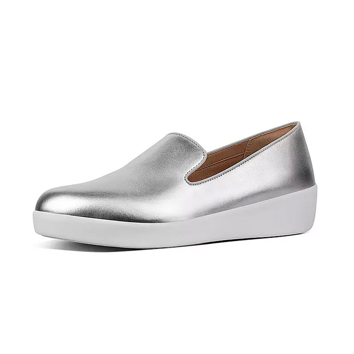 Audrey Metallic Smoking Slippers