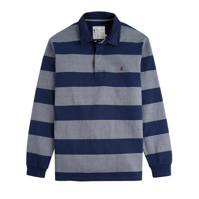 Men's Joules Onside Striped Ls Rugby Shirt Nvcrmst
