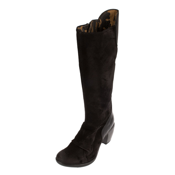 Women's Hean127fly Oiled Suede Knee Boot