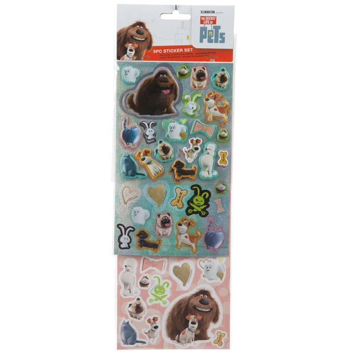 Secret Life Of Pets 3Pce Sticker Set