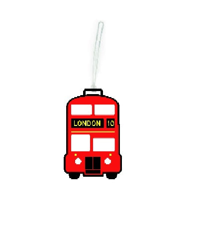 Red Bus Luggage Tag