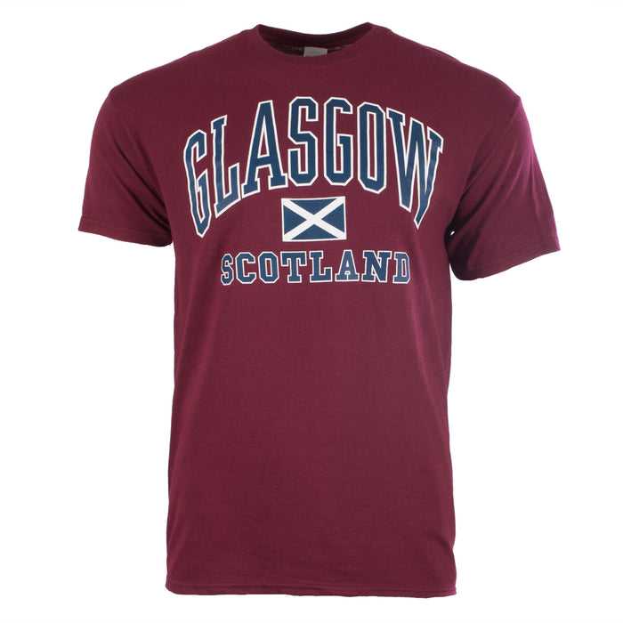 Glasgow Harvard Adults T-Shirt Maroon