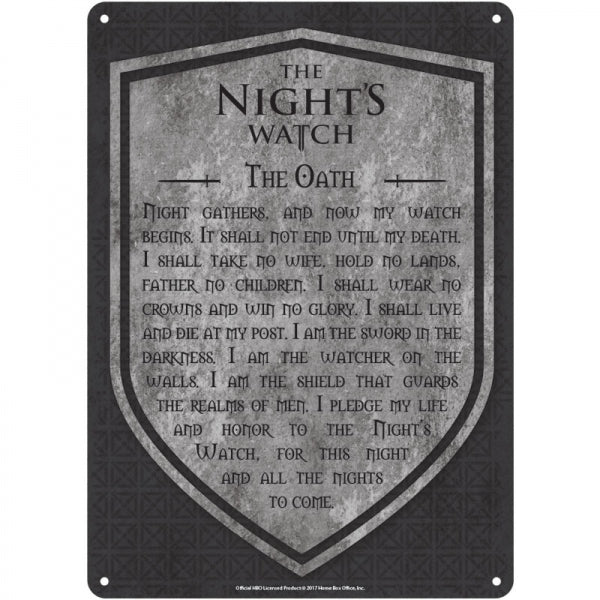 Tin Sign Small - Game Of Thrones (Nights